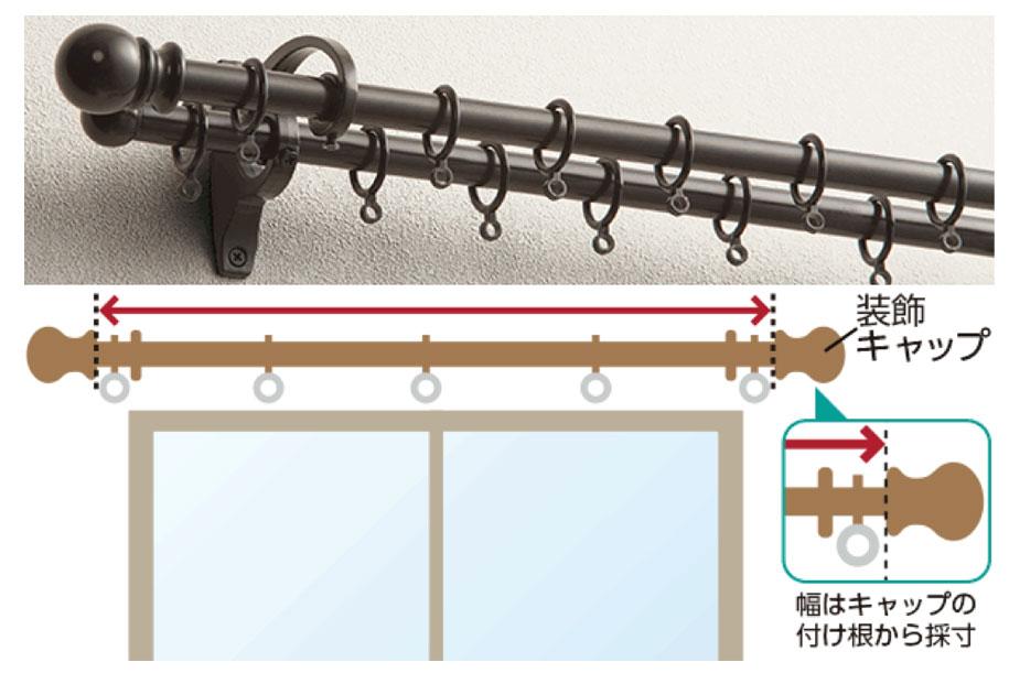 装飾カーテンレールの測り方