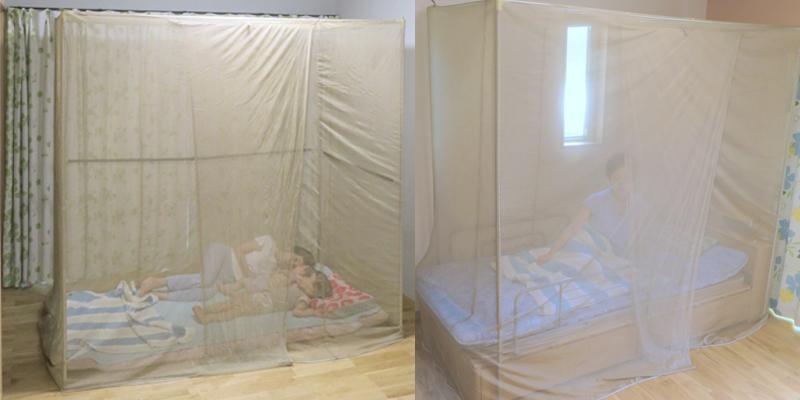 ベッド用、布団用のシールドメッシュシェルターとして使用