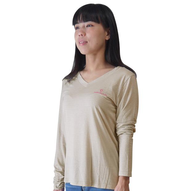 放射電磁波シールドVネックTシャツ(銀繊維ファブリック)