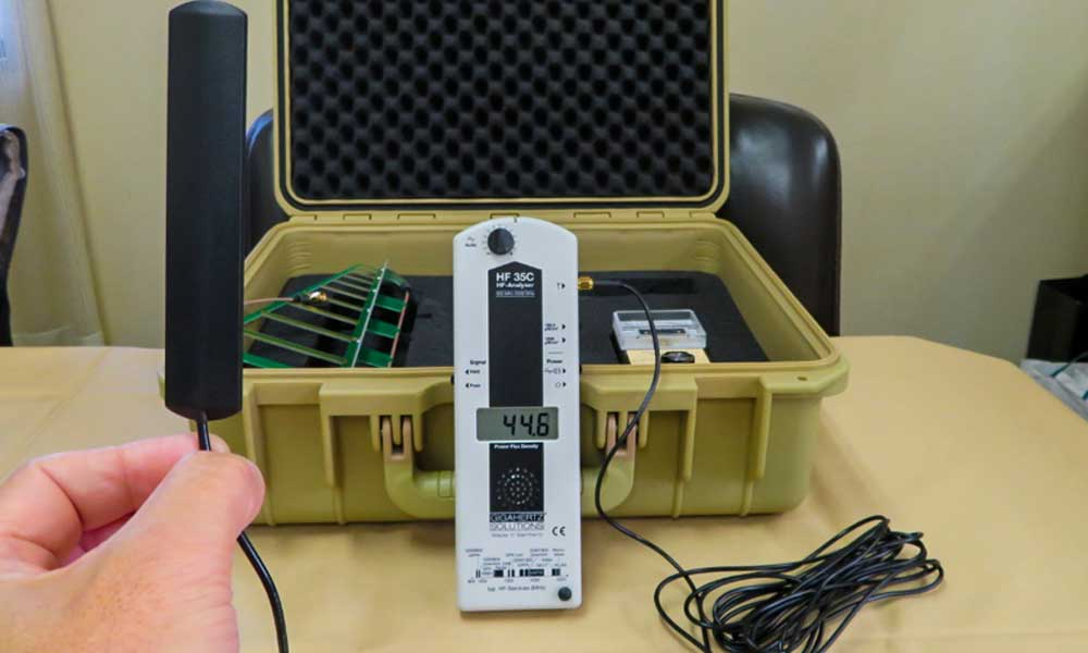 40~50μW/㎡の電磁波環境